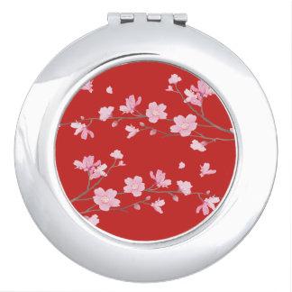Cherry Blossom - rRed Vanity Mirror