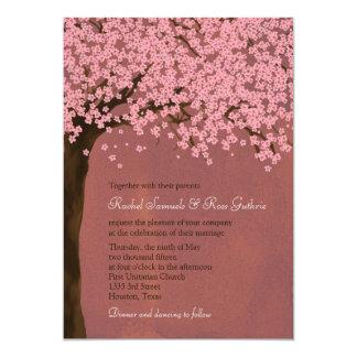 Cherry Blossom / Sakura (Dusk) Watercolor Wedding Card