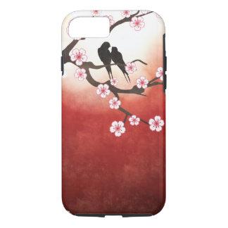 Cherry Blossom Sakura & Love Birds iPhone 7 Case