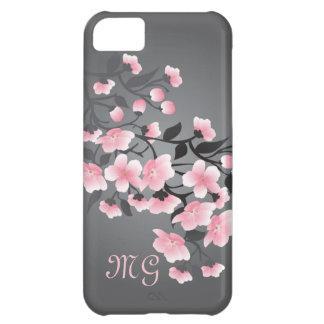 Cherry blossom (Sakura) Monogram Cover For iPhone 5C