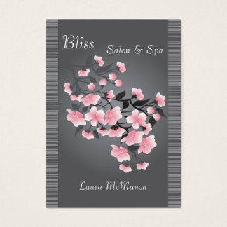 Cherry blossom (Sakura) on a light gray background Business Card