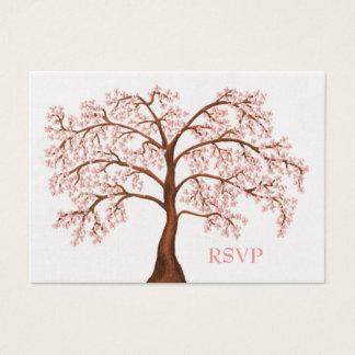 Cherry Blossom Sakura Pearl Wedding RSVP Cards