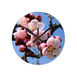 Cherry Blossom Sakura Round Clock