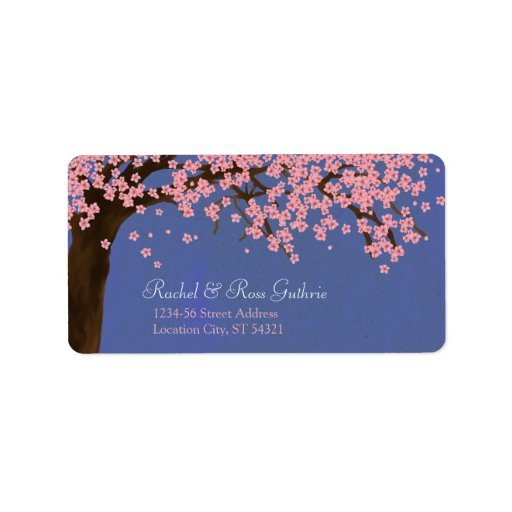 Cherry Blossom / Sakura Watercolor (Night) Address Address Label