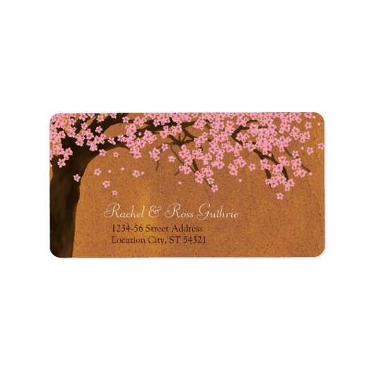 Cherry Blossom Sakura Watercolor (Sunset) Address Label