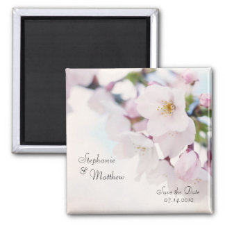 Cherry Blossom Save the Date Magnet