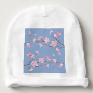Cherry Blossom - Serenity Blue Baby Beanie