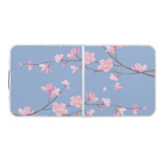 Cherry Blossom - Serenity Blue Beer Pong Table