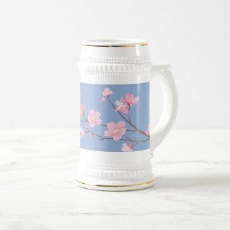Cherry Blossom - Serenity Blue Beer Stein