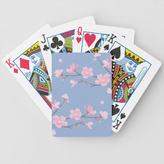 Cherry Blossom - Serenity Blue Bicycle Playing Cards