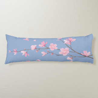 Cherry Blossom - Serenity Blue Body Pillow