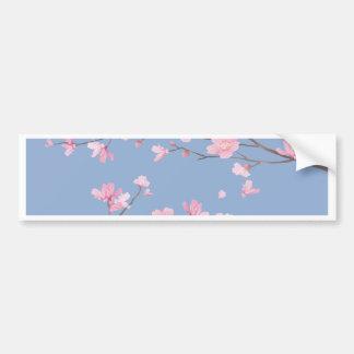 Cherry Blossom - Serenity Blue Bumper Sticker