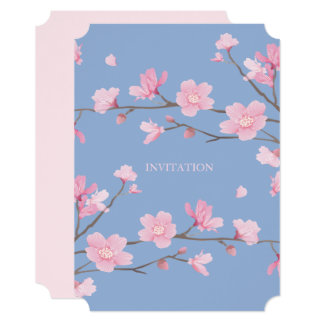 Cherry Blossom - Serenity Blue Card