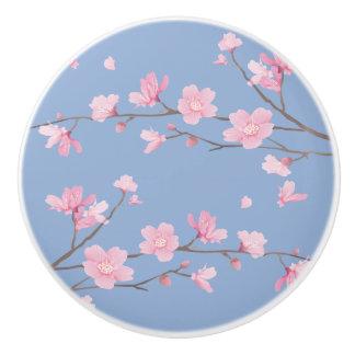 Cherry Blossom - Serenity Blue Ceramic Knob