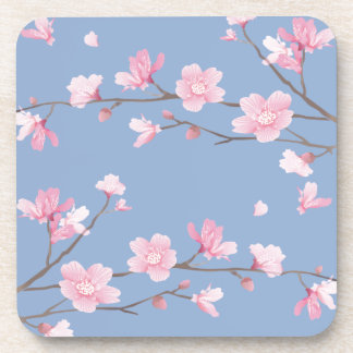 Cherry Blossom - Serenity Blue Coasters
