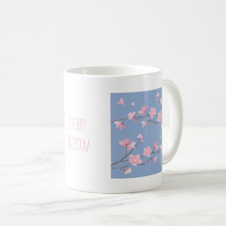Cherry Blossom - Serenity Blue Coffee Mug