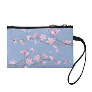 Cherry Blossom - Serenity Blue Coin Purse