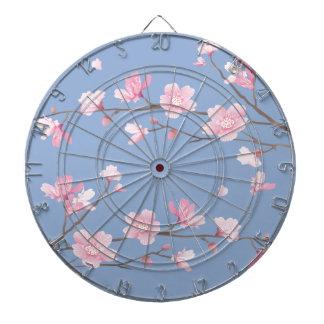 Cherry Blossom - Serenity Blue Dartboard