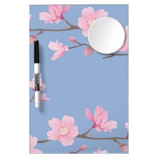 Cherry Blossom - Serenity Blue Dry Erase Board