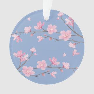 Cherry Blossom - Serenity Blue - HAPPY BIRTHDAY Ornament