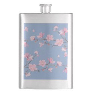 Cherry Blossom - Serenity Blue Hip Flask