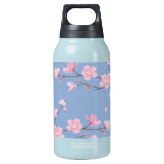Cherry Blossom - Serenity Blue Insulated Water Bottle