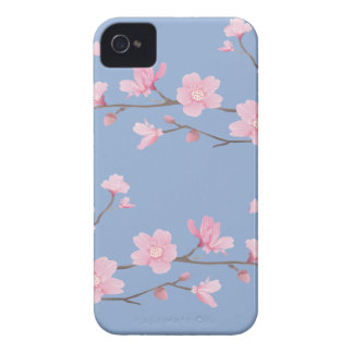 Cherry Blossom - Serenity Blue iPhone 4 Case-Mate Case