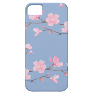 Cherry Blossom - Serenity Blue iPhone 5 Covers