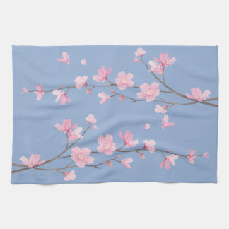 Cherry Blossom - Serenity Blue Kitchen Towel