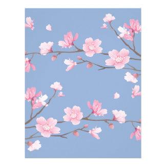 Cherry Blossom - Serenity Blue Letterhead