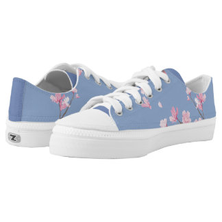 Cherry Blossom - Serenity Blue Low-Top Sneakers