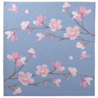 Cherry Blossom - Serenity Blue Napkin