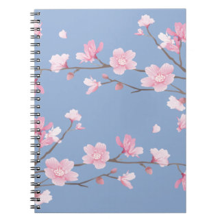 Cherry Blossom - Serenity Blue Notebook