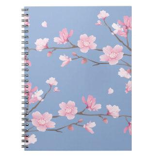 Cherry Blossom - Serenity Blue Notebooks