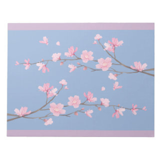 Cherry Blossom - Serenity Blue Notepad