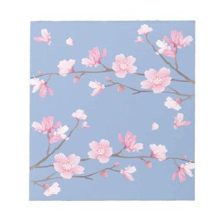 Cherry Blossom - Serenity Blue Notepad