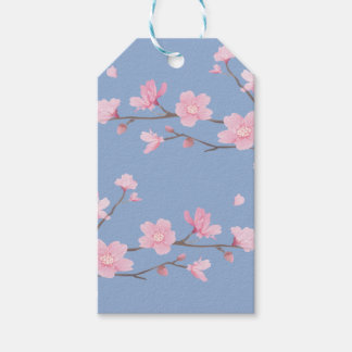 Cherry Blossom - Serenity Blue Pack Of Gift Tags