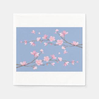 Cherry Blossom - Serenity Blue Paper Napkins