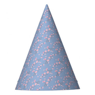 Cherry Blossom - Serenity Blue Party Hat