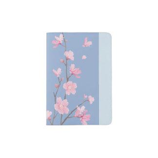 Cherry Blossom - Serenity Blue Passport Holder