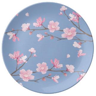 Cherry Blossom - Serenity Blue Plate