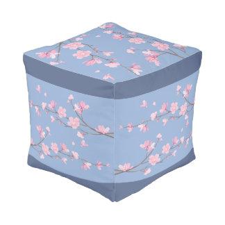 Cherry Blossom - Serenity Blue Pouf