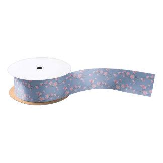 Cherry Blossom - Serenity Blue Satin Ribbon