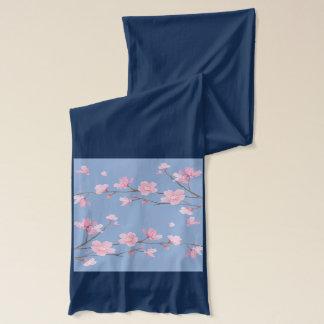 Cherry Blossom - Serenity Blue Scarf