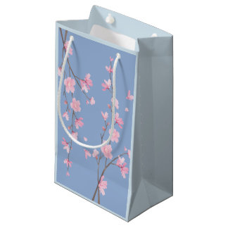Cherry Blossom - Serenity Blue Small Gift Bag