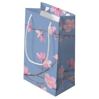 Cherry Blossom - Serenity Blue Small Gift Bag