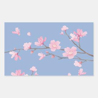 Cherry Blossom - Serenity Blue Sticker