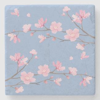 Cherry Blossom - Serenity Blue Stone Coaster
