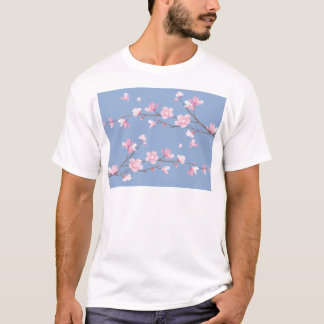Cherry Blossom - Serenity Blue T-Shirt