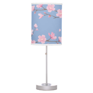 Cherry Blossom - Serenity Blue Table Lamp